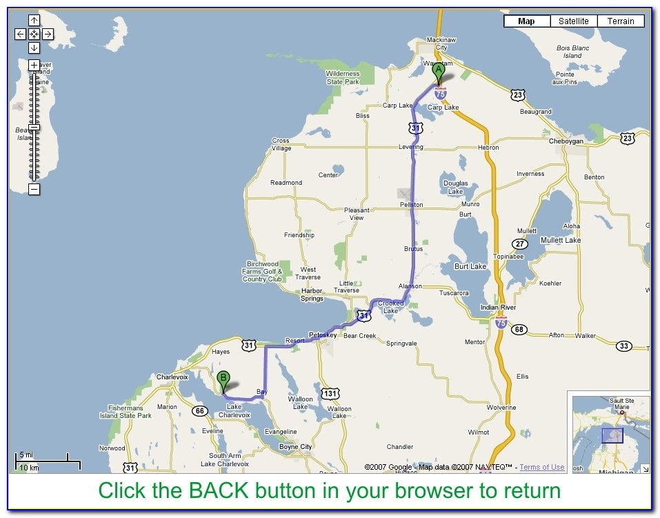 Disc Golf Courses In Michigan Map