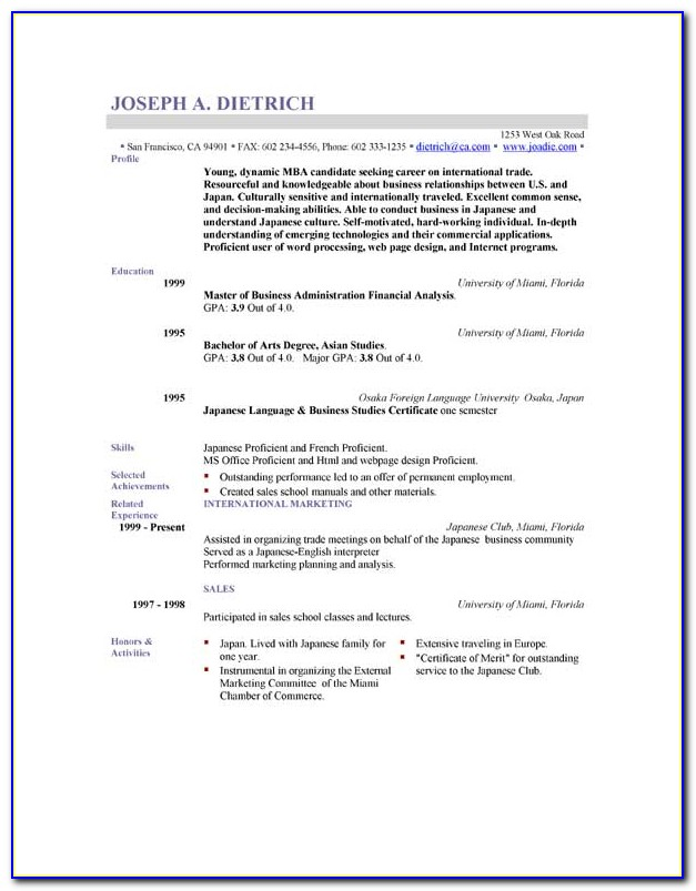 Download Resume Templates Psd