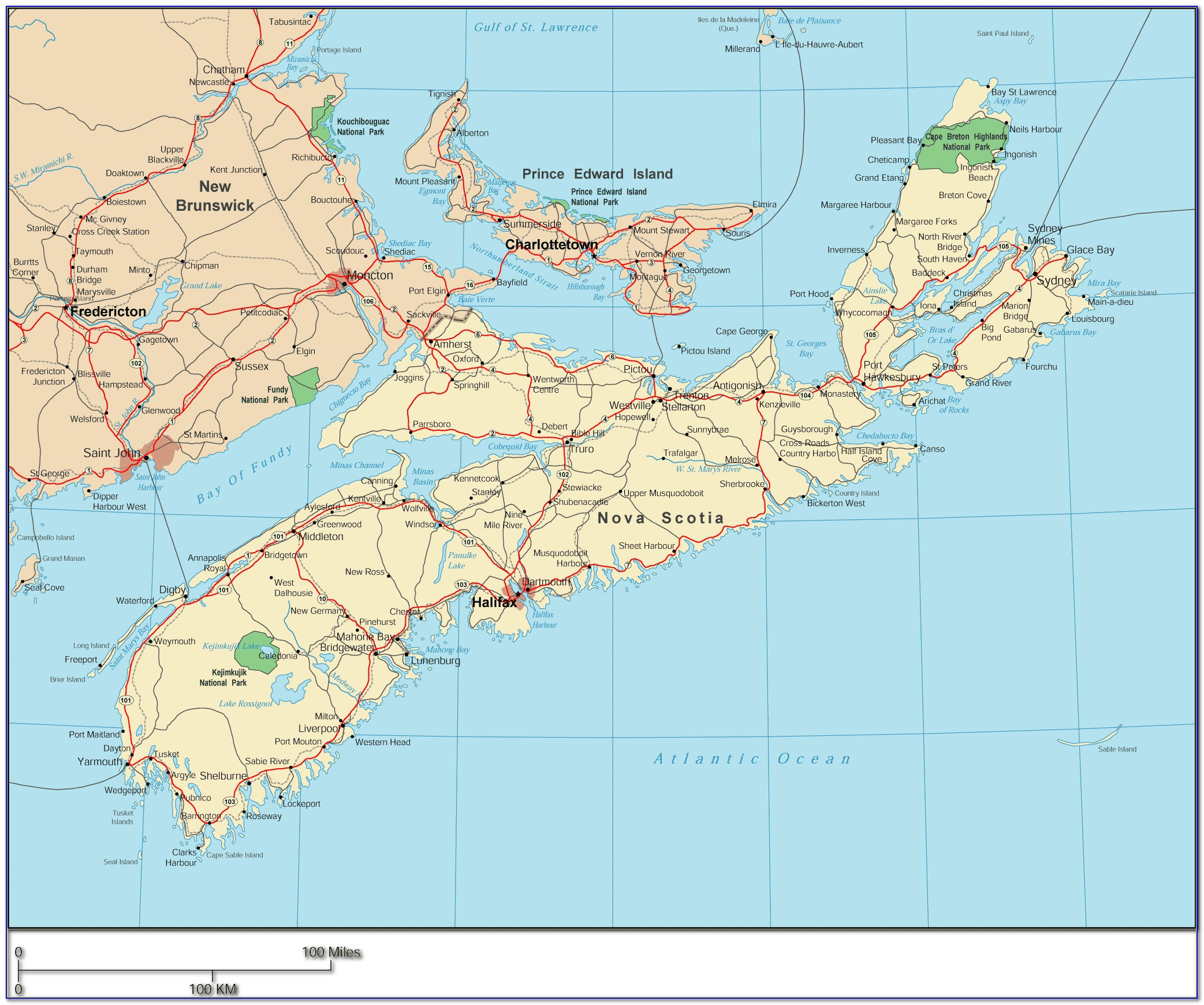 Driving Map From Toronto To Nova Scotia