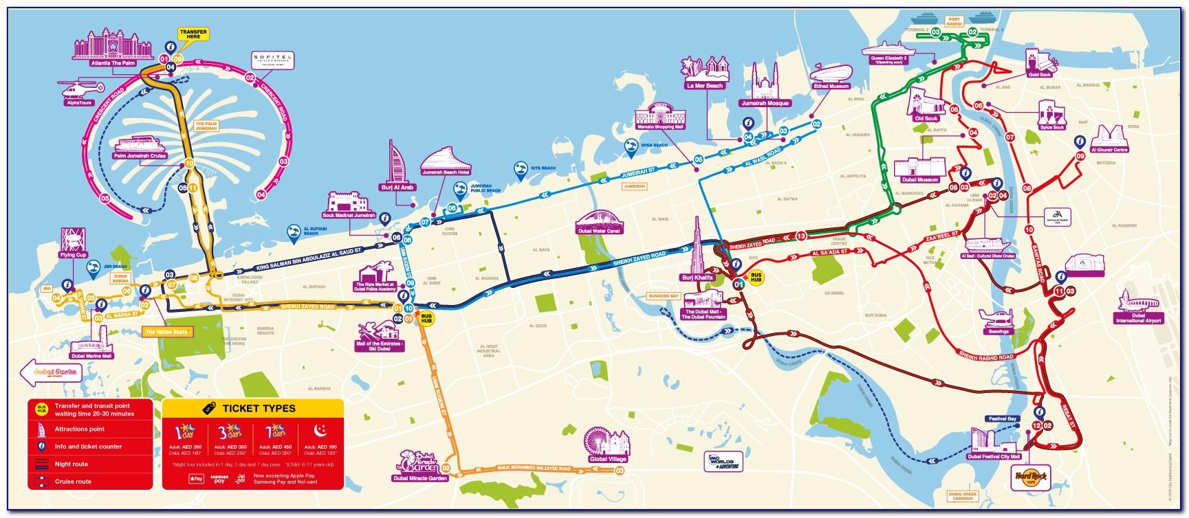 Dubai City Sightseeing Bus Map