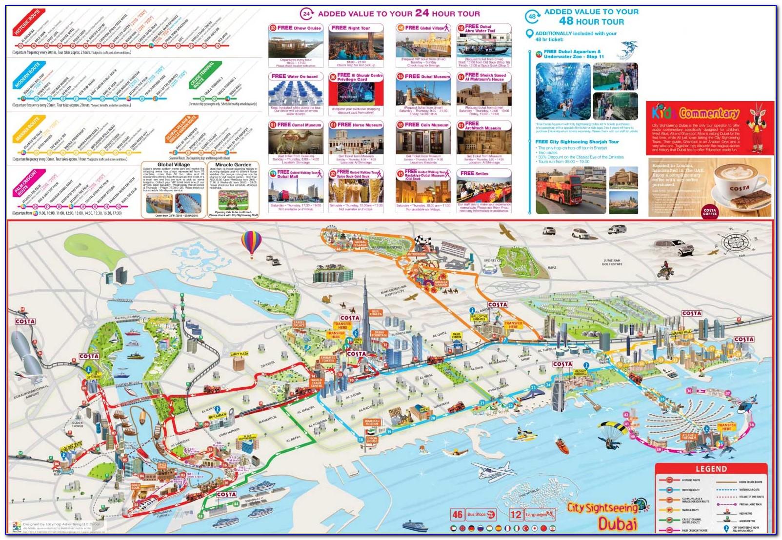 Dubai Hop On Hop Off Bus Map Pdf