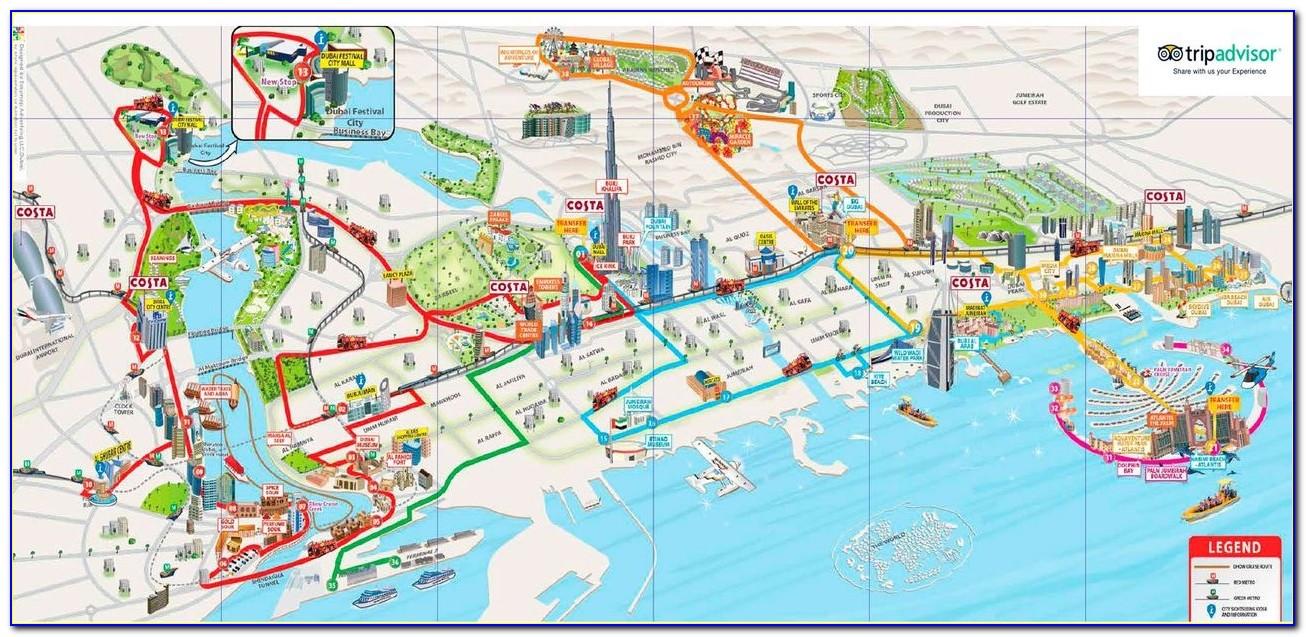 Dubai Hop On Hop Off Bus Map