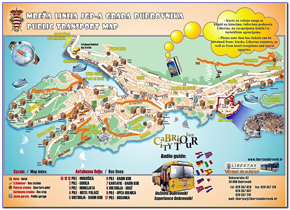 Dubrovnik Tourist Attractions Map