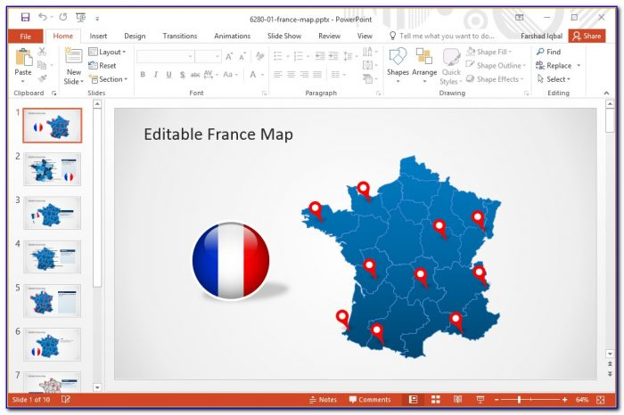Editable Us Map Powerpoint Template Free - Maps : Resume ...
