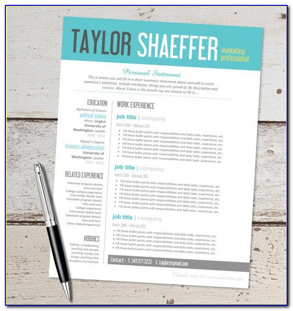 Editable Resume Template Word