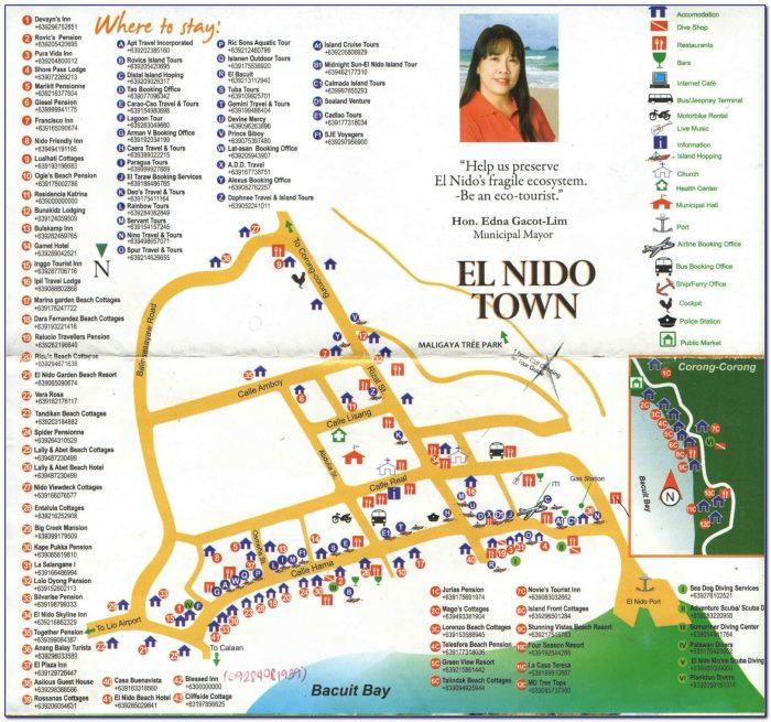 El Nido Hotel Map