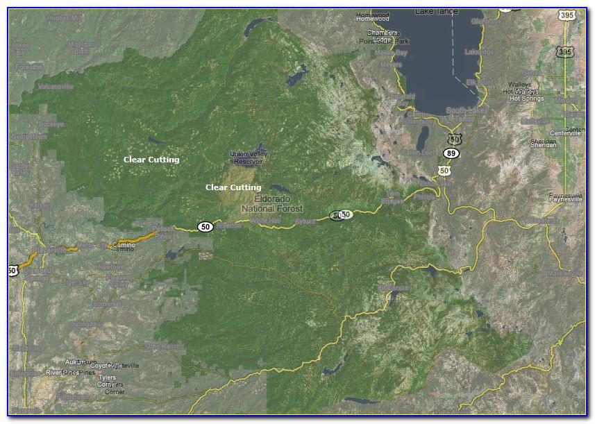 Eldorado National Forest Trail Map