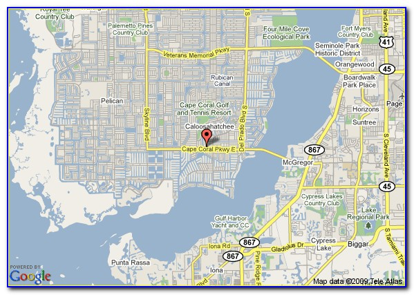 Elevation Map Cape Coral Florida
