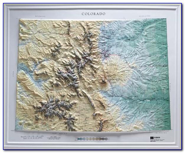 Elevation Maps Of Colorado