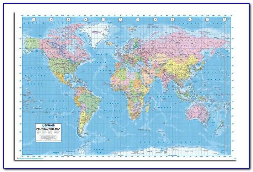 Extra Large Laminated World Map