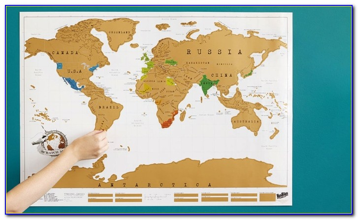 Extra Large Scratch Off World Map