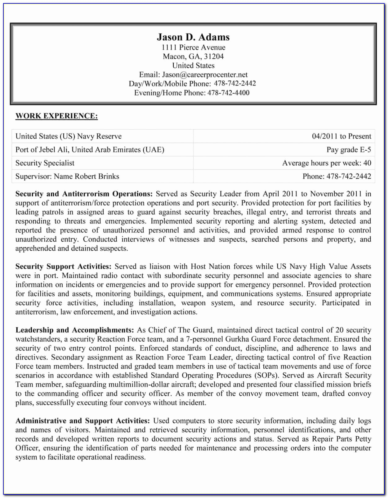 Of Professional Federal Resume Writing Services
