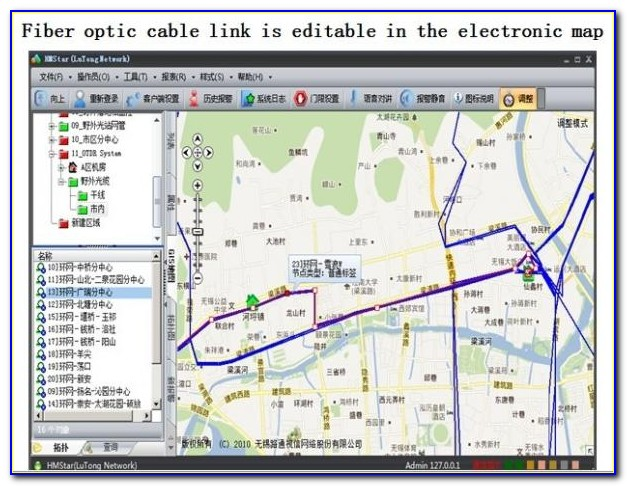 Fiber Optic Network Mapping Software