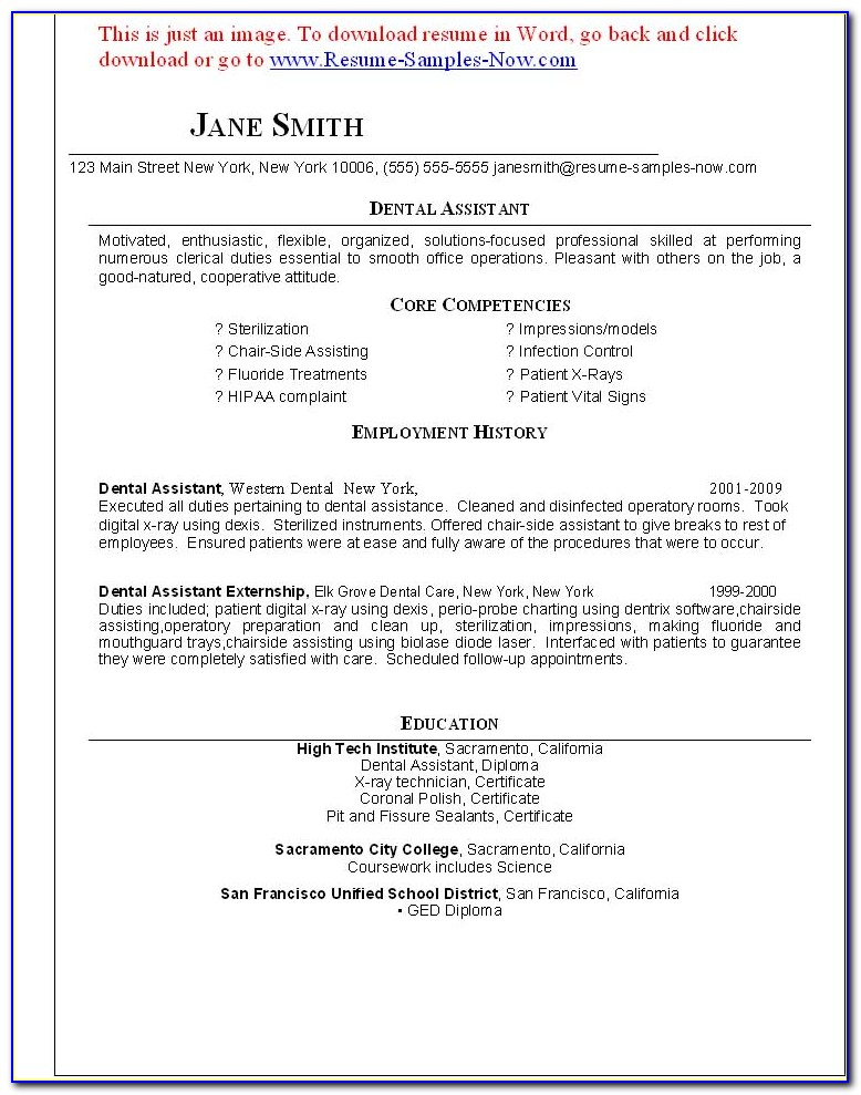 Find Dental Assistant Resumes