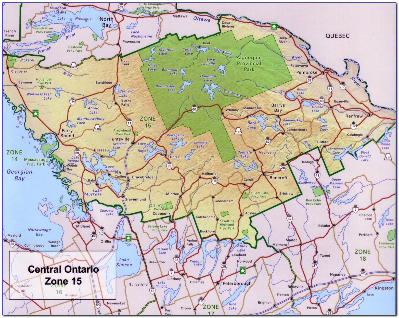 Fishing Maps Ontario Canada
