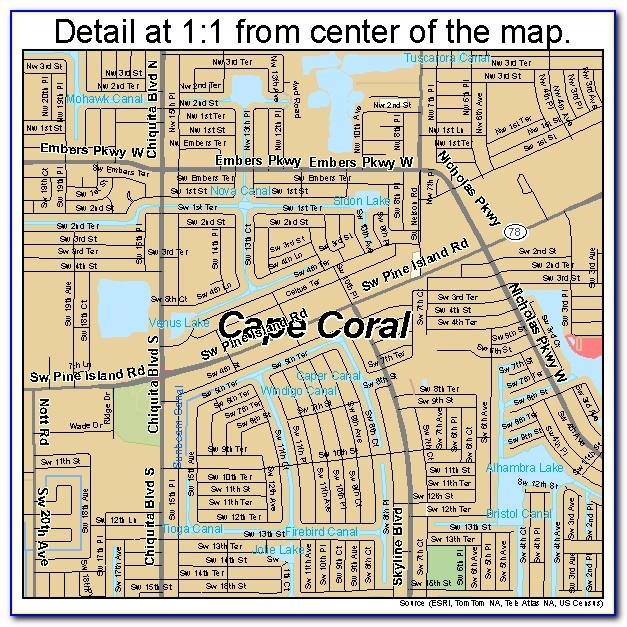 Fl Map Cape Coral
