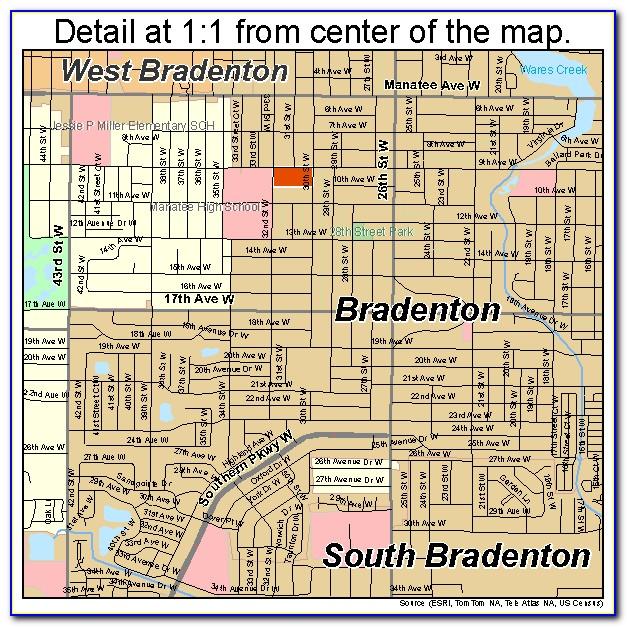 Florida Map Bradenton Beach