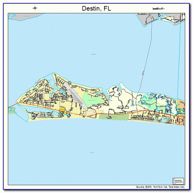Florida Map Destin Fl
