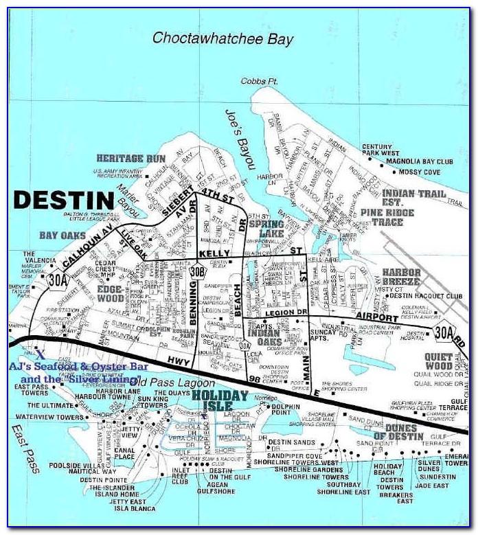 Florida Map Destin Florida
