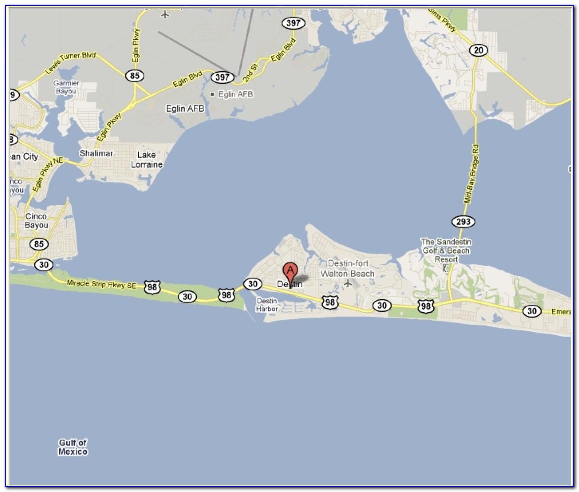 Florida Map Showing Destin Fl