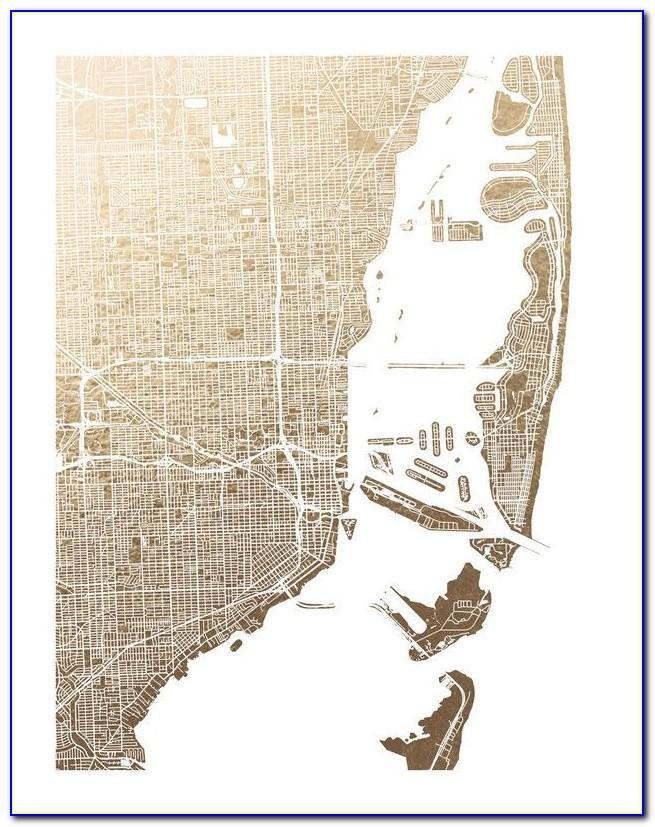 Foil Pressed Map Art
