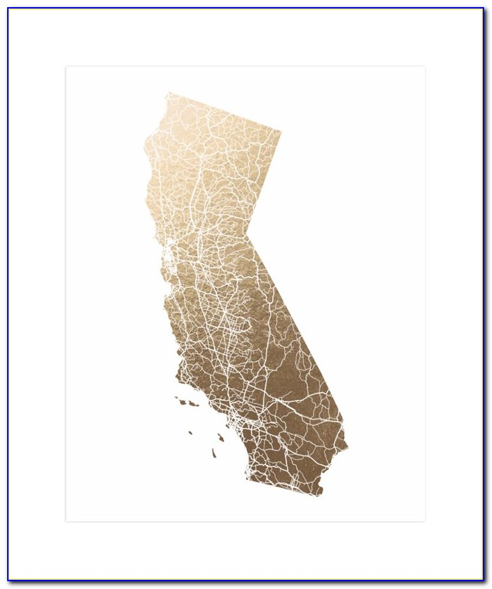 Foil Pressed Maps