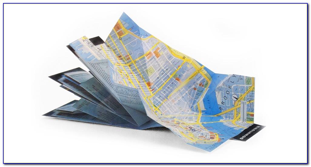 Folded Map Printing