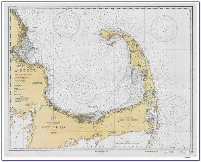 Framed Cape Cod Nautical Maps