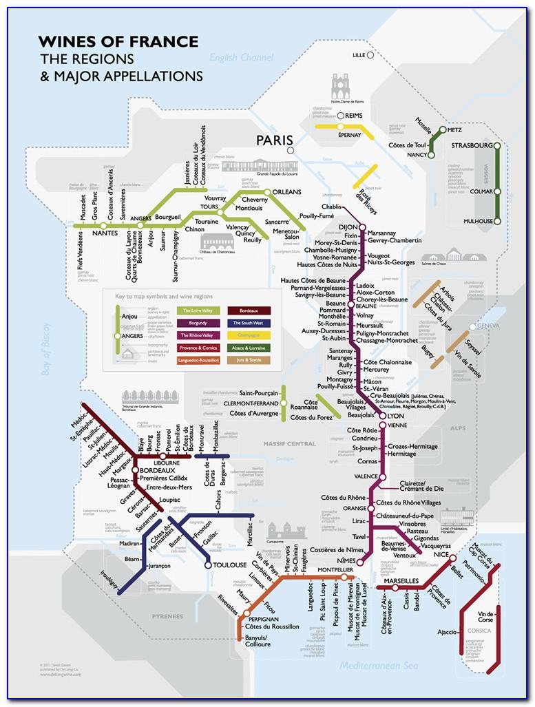 France Aoc Wine Map