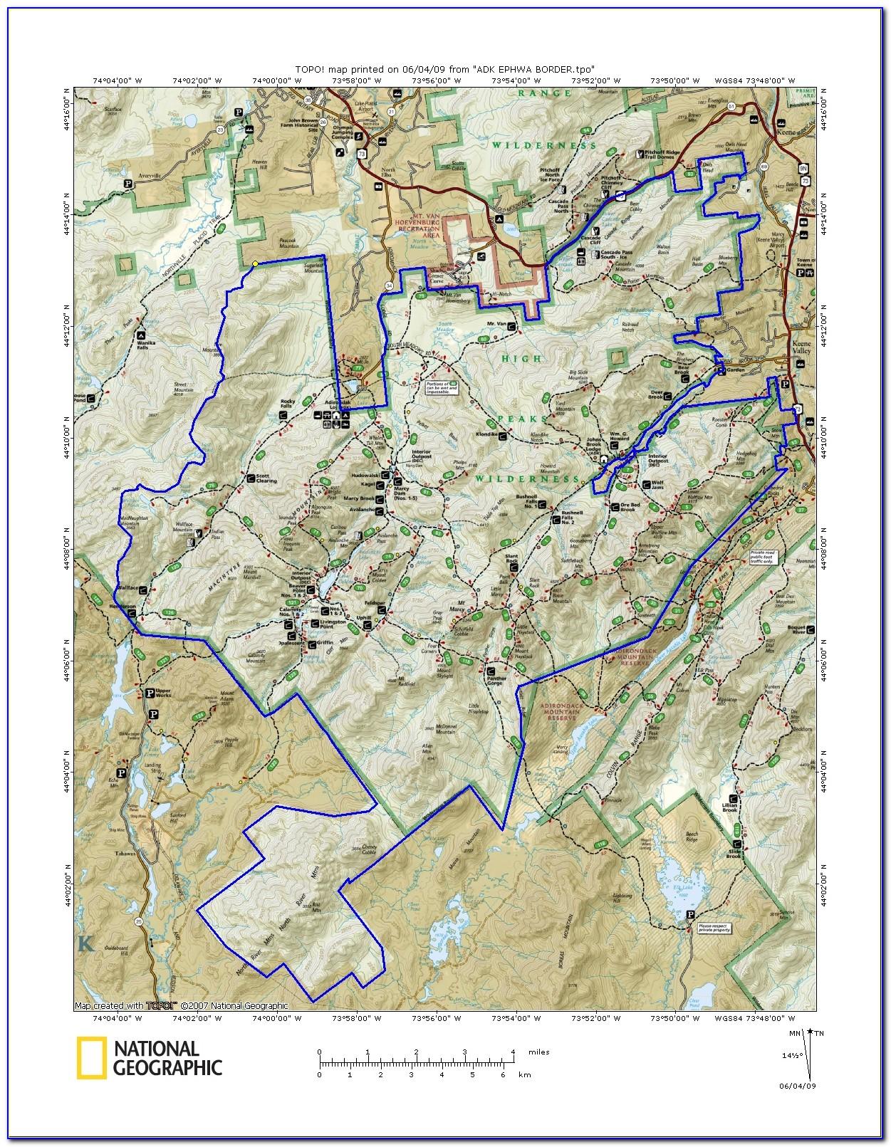 Free Adirondack Trail Maps