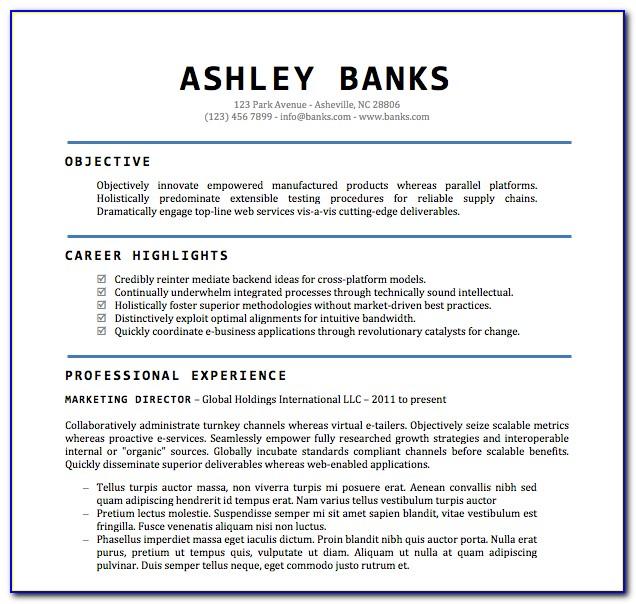 Free Basic Job Resume Templates
