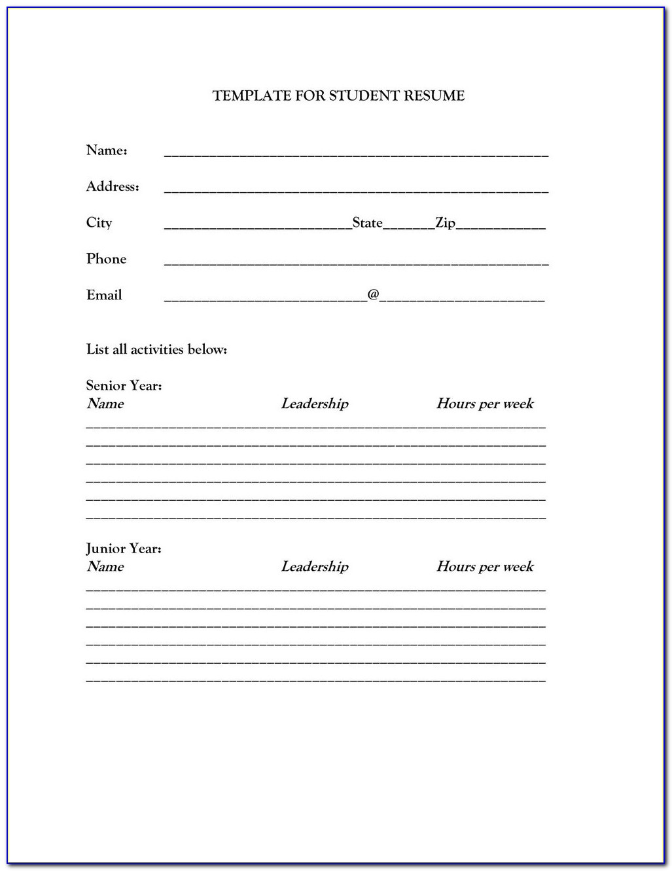 Free Blank Resume Templates Pdf