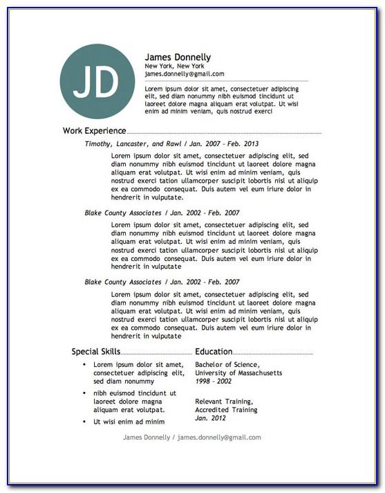 Free Creative Resume Layout