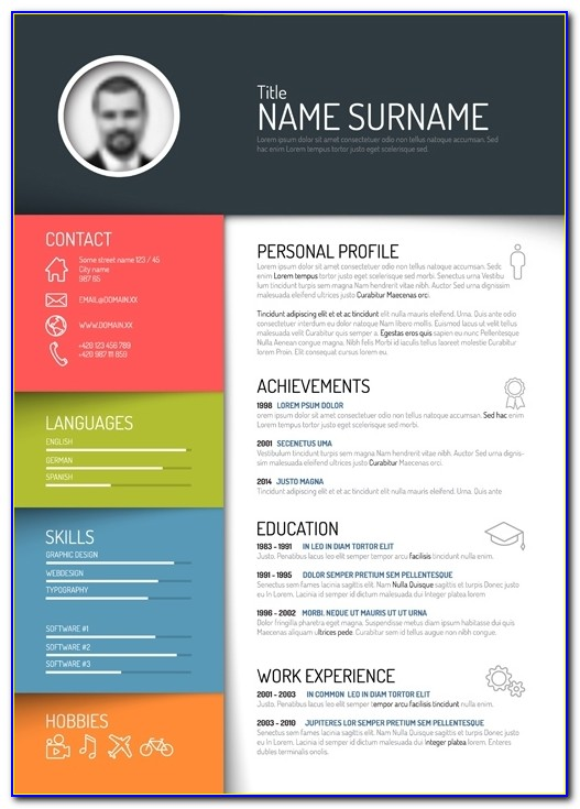 Free Creative Colorful Resume Design Templates 2017 Free Creative Intended For Creative Resume Templates 2017