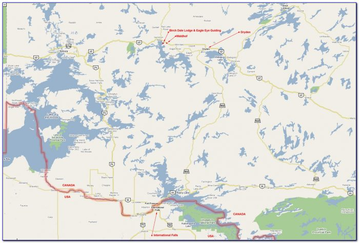 Free Fishing Maps Ontario Lakes