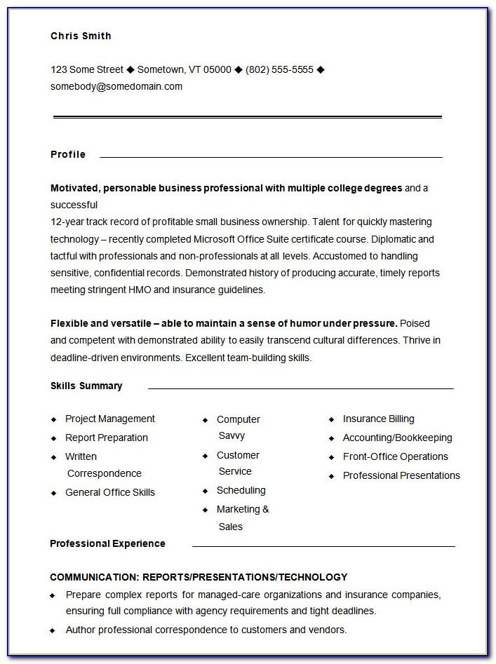 Free Functional Resume Templates 2018