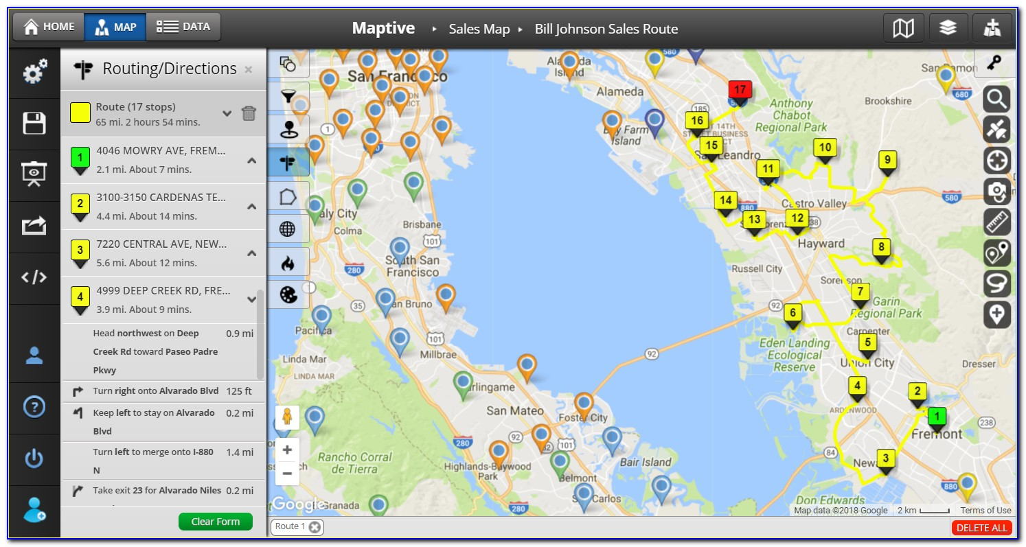 Free Map Routing Software