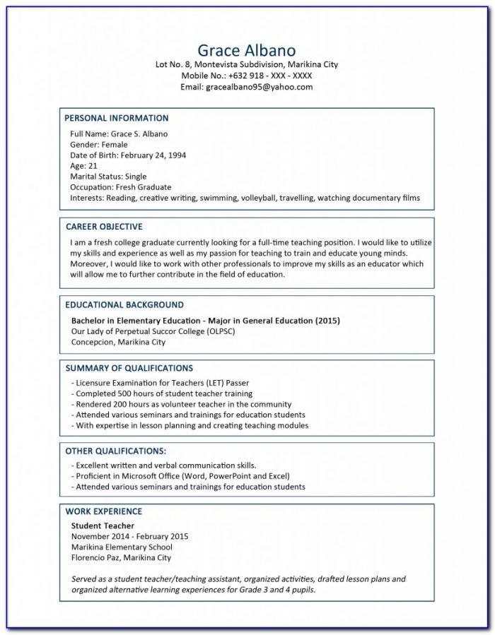 Free Microsoft Resume Templates Download