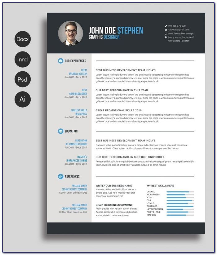 Free Ms.word Resume And Cv Template Free Design Resources With Regard To Free Microsoft Word Resume Templates