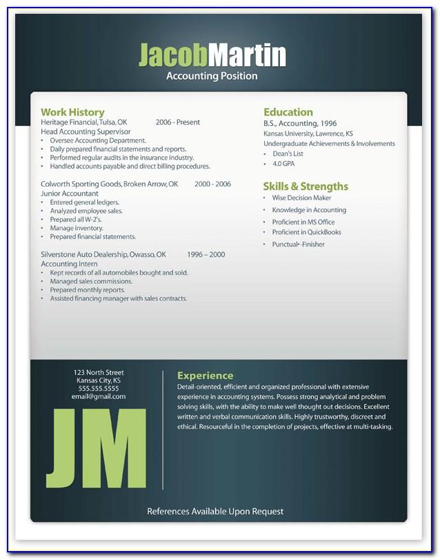 Free Modern Resume Templates Word Format