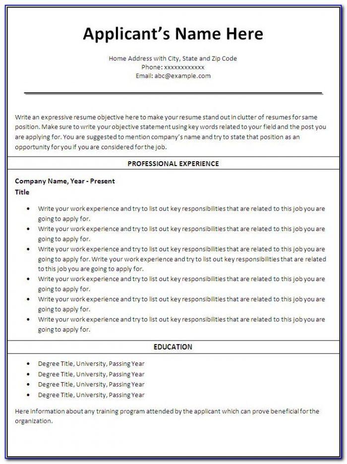 Free Nursing Resume Templates Australia