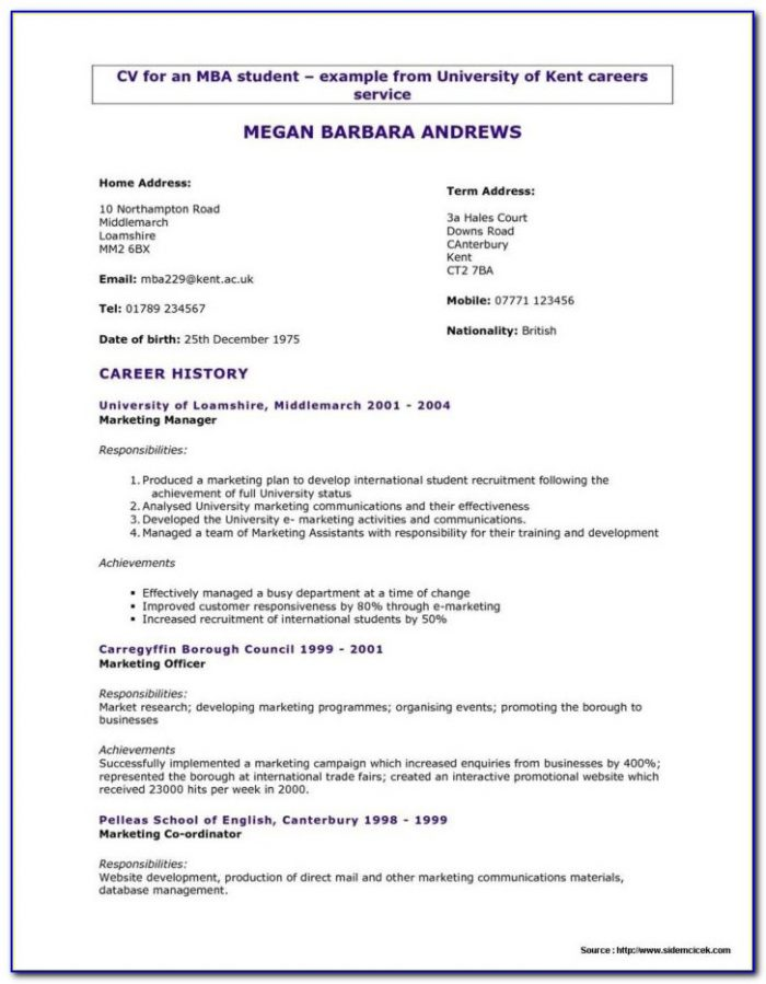 Free Online Resume Maker And Download