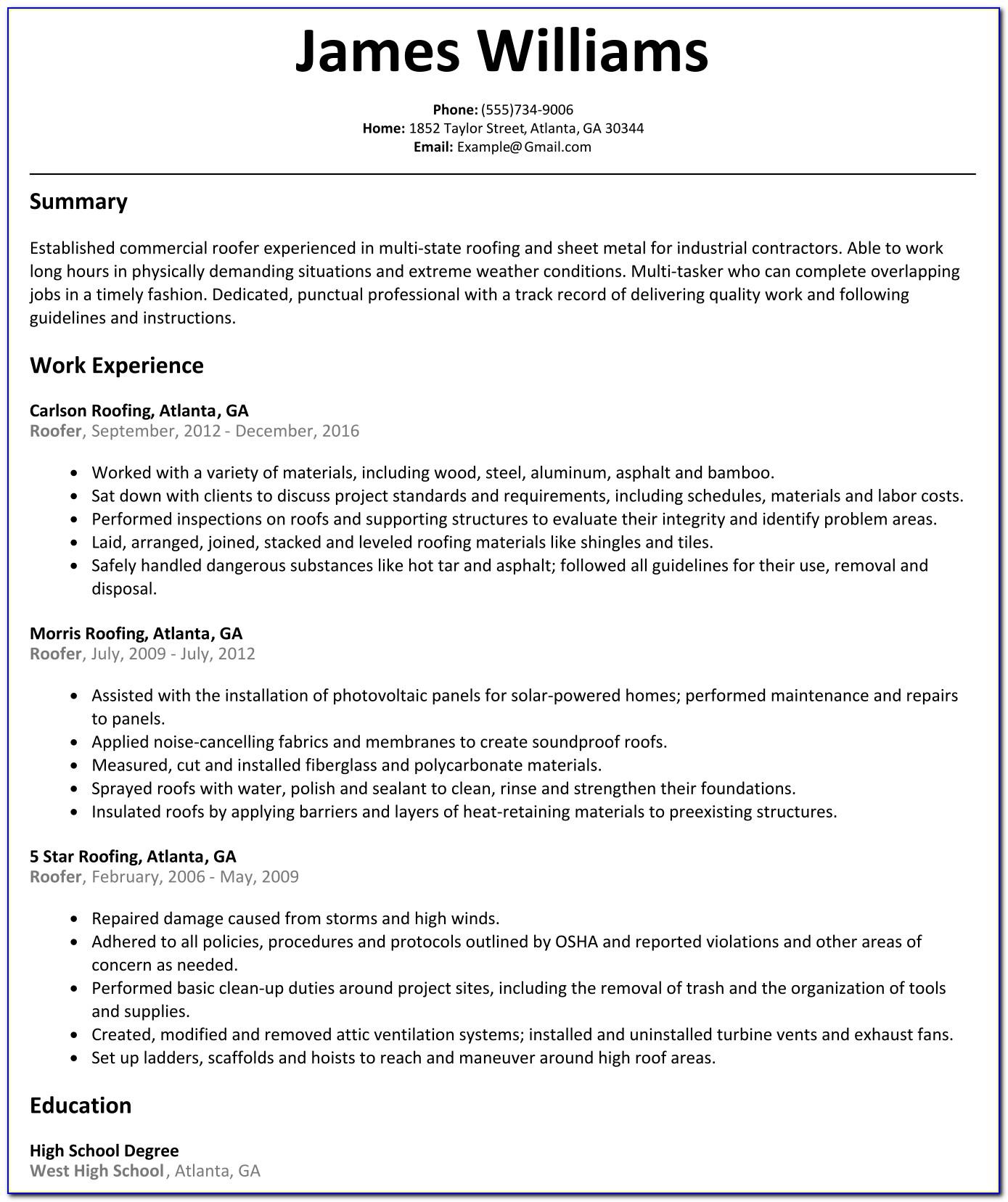 Free Online Resume Maker Australia
