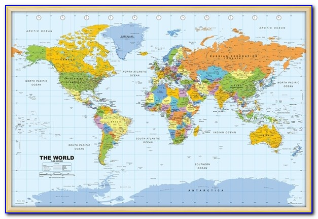 Free Online World Map Pinboard