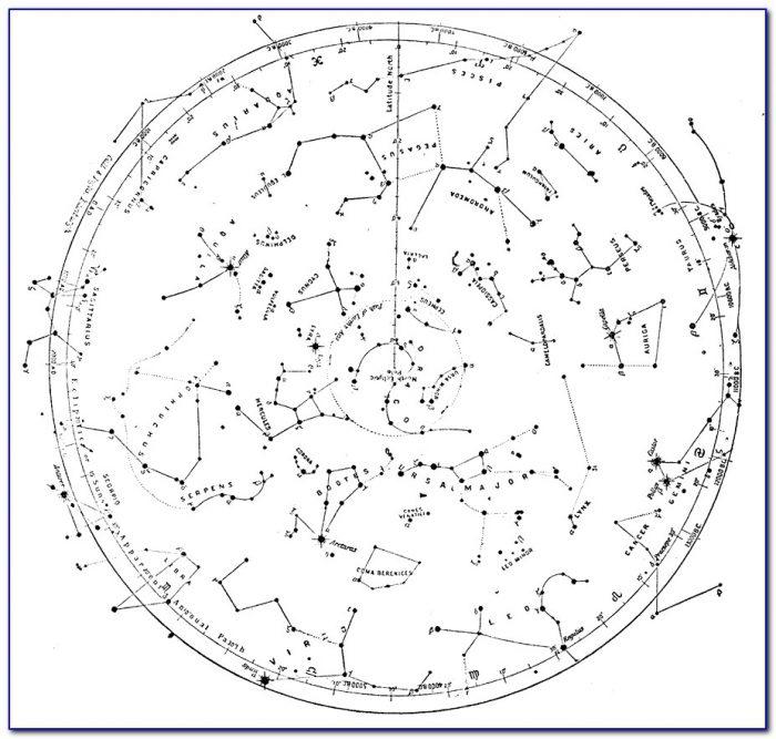 Free Printable Constellation Map