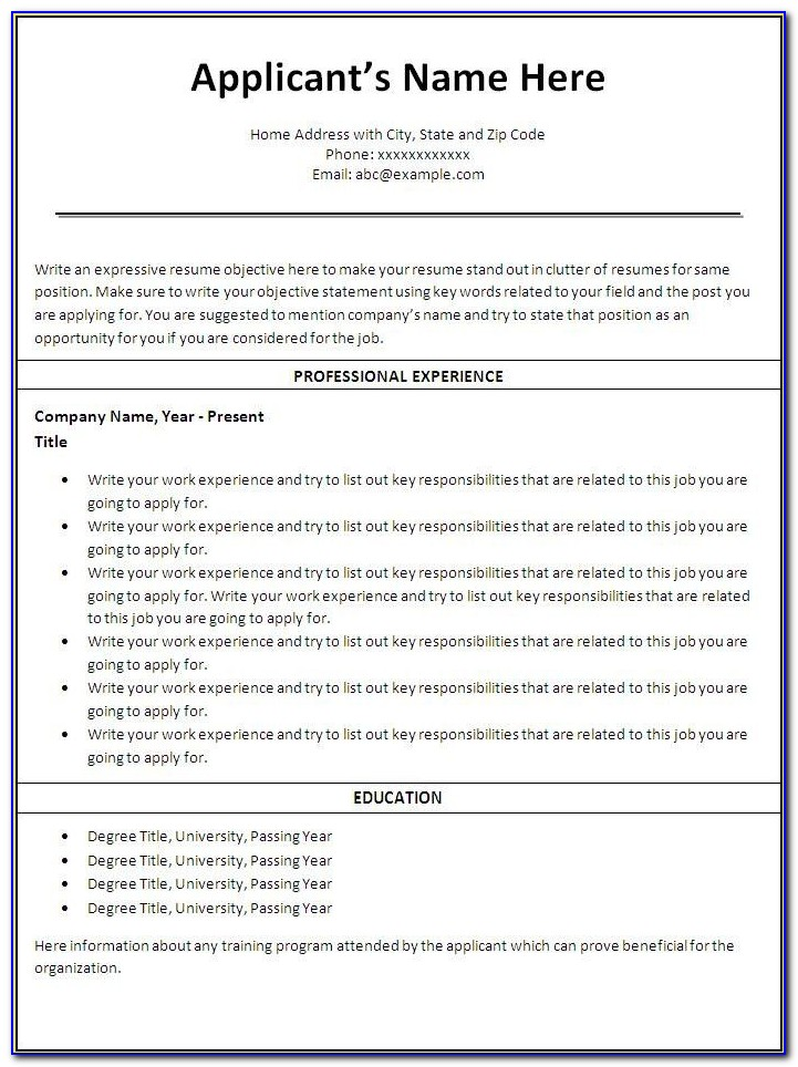 Free Printable Resume Cover Letter Templates
