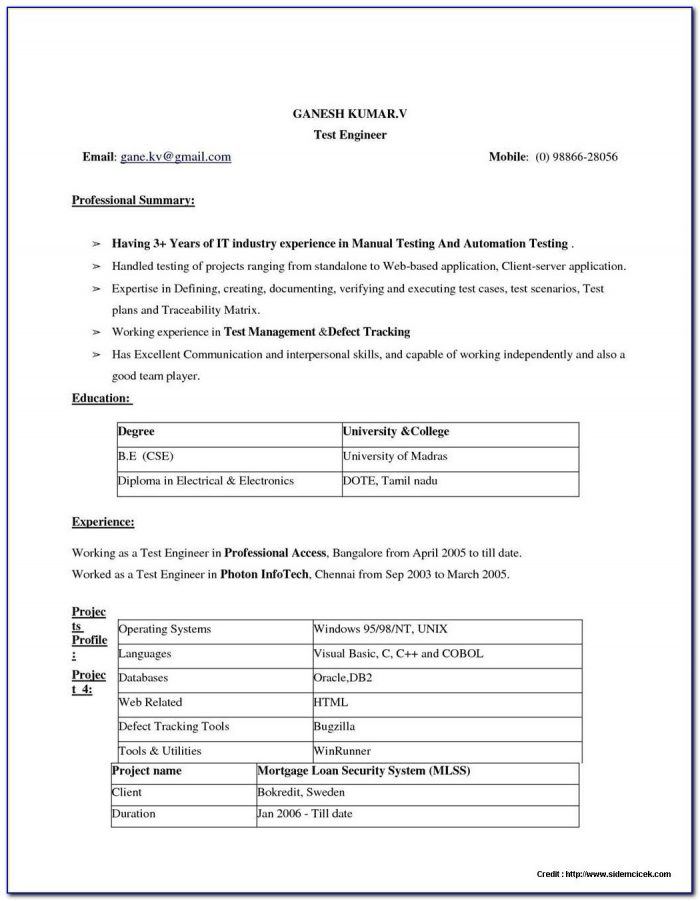 Free Resume Builder Downloadable