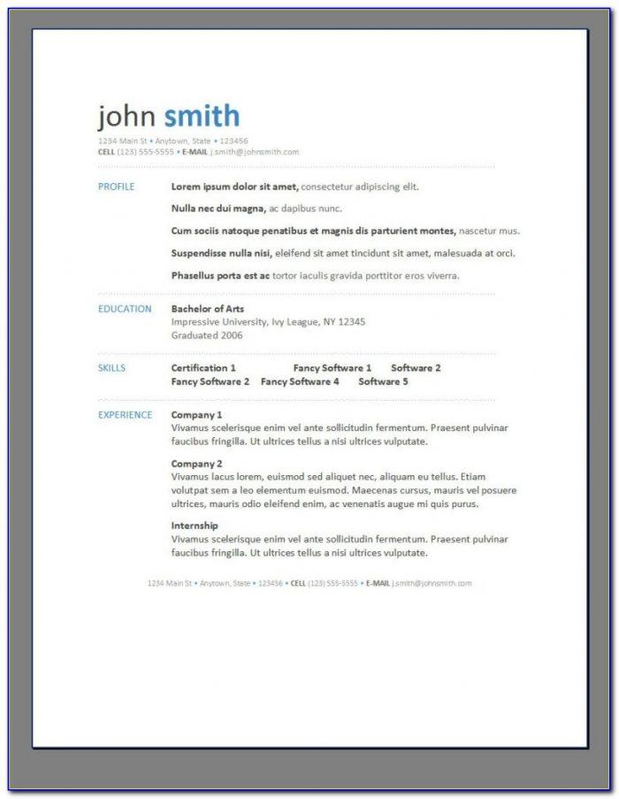Free Resume Creator For Freshers