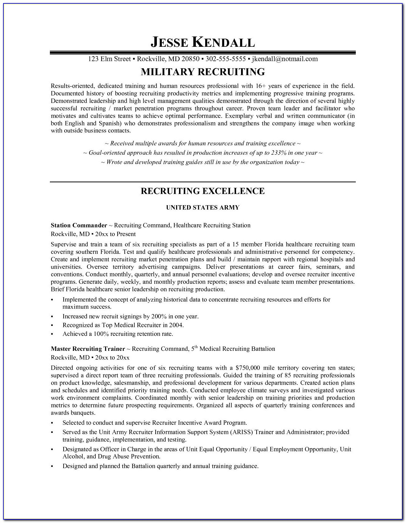 Sample Recruiter Resume | Resume Cv Cover Letter For Free Resume Database For Recruiters