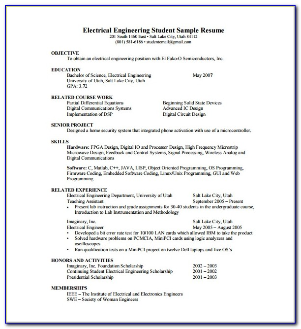 Free Resume Format Pdf Download